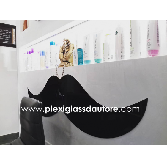 """PARACOLPI """" Baffo"""" in plexiglass nero lucido - Plexiglass D'Autore"""