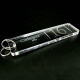 Portachiavi rettangolare in plexiglass trasparente - Plexiglass D'autore
