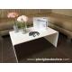 Tavolo 80x50x35 in Plexiglass bianco lucido - Plexiglass D'Autore