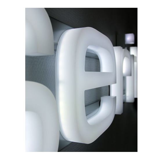 Lettere Scatolate LED in Plexiglass- Plexiglass D'Autore