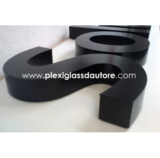 Lettere Scatolate LED in Pvc - Plexiglass D'Autore