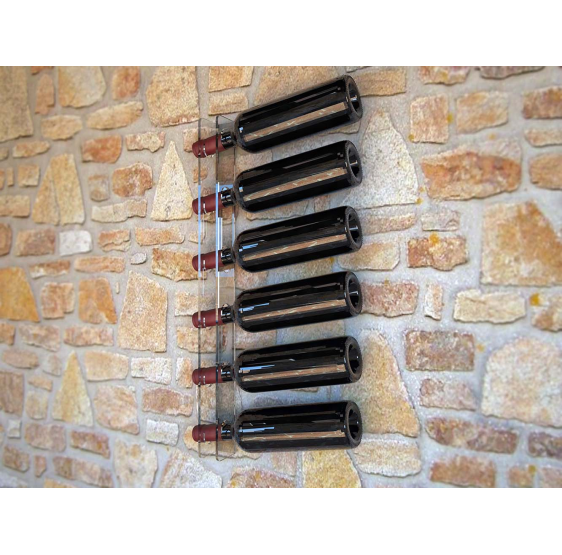 Cirò porta bottiglie verticale da parete 6 posti