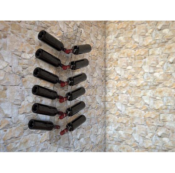 TINTILIA EASY Portabottiglie vino in plexiglass trasparente mod. TINTILIA