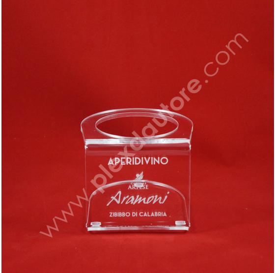 ARTESE Porta Bottiglia Vino in Plexiglass trasparente  - Plex D'Autore