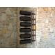 Trebbiano Portabottiglie da parete in Plexiglass trasparente 6 posti