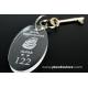 30 Portachiavi ovale in plexiglass trasparente - Plexiglass D'autore