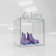 Cubo cm. 30x30x30 in Plexiglass trasparente chiuso su 4 lati - Plexiglass D'Autore
