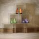 Espositore 6 cubi piramide per vetrine e negozi