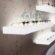 Mensola Luminosa Plexiglass colore bianco opalino  -  Plex D'autore