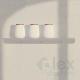 Mensola ad L in plexiglass di lunghezza cm 15, 25, 35, 45