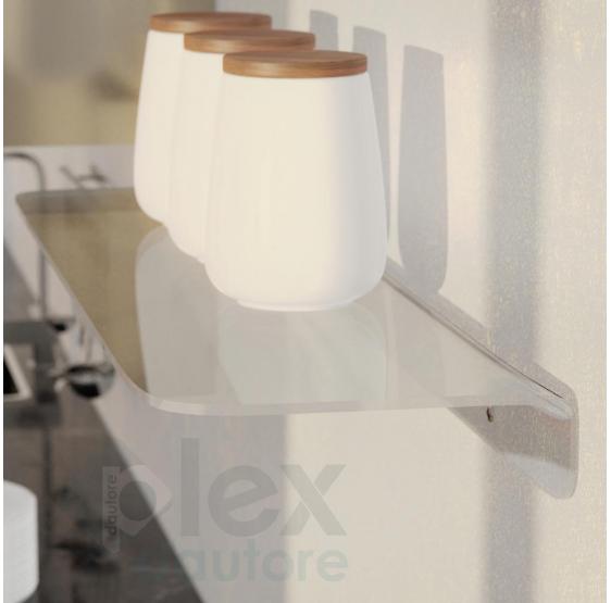 Mensola ad L in plexiglass trasparente