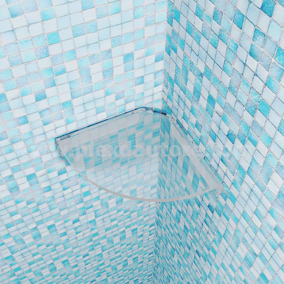 mensola angolo doccia vista alto