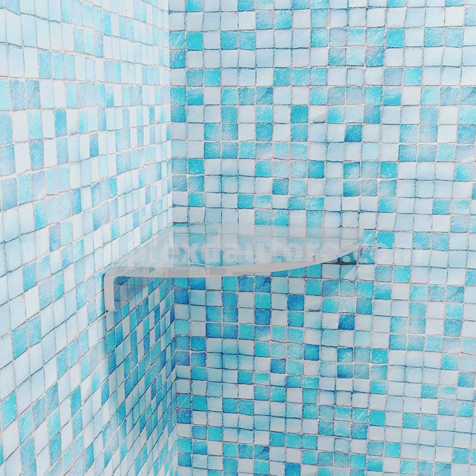 mensola ad angolo per doccia